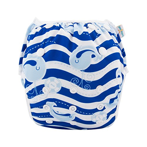 Babygoal Baby Swim Diaper One Size Reusable Washable and Adjustable for Swimming fit 0-2 Years Babies FSW13