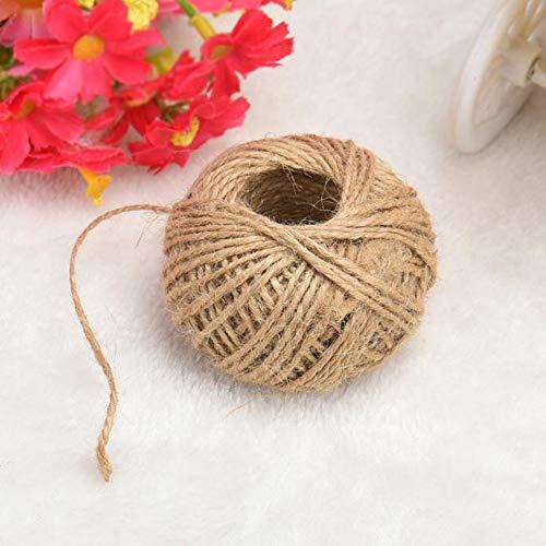 Hot Sale!DEESEE(TM)100M/Roll Natural Jute Rope Twine String Cord DIY Scrapbooking Craft Making New