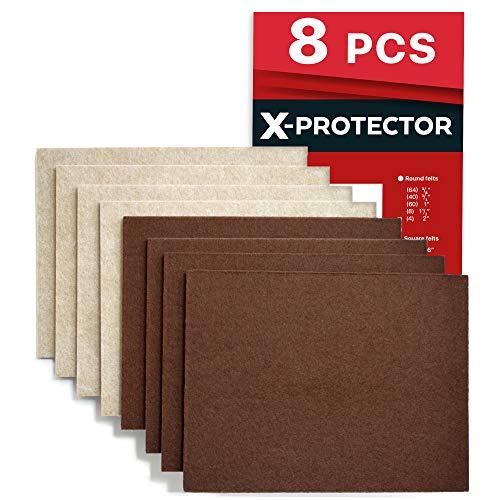 X PROTECTOR 8 Pack Premium Felt Furniture Pads 8u201dx6u201d Heavy Duty 1