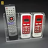 PINMEI Remote Control Holder Clear Acrylic Home Organizer