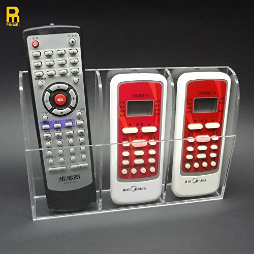 PINMEI Acrylic Remote Control Holder Wall Mount Media Organi