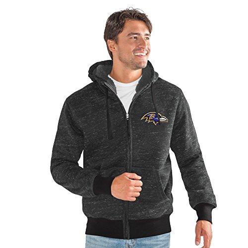 G-III Sports by Carl Banks Adult Men Discovery Transitional Jacket, Black, Large (Ravens Jacket)