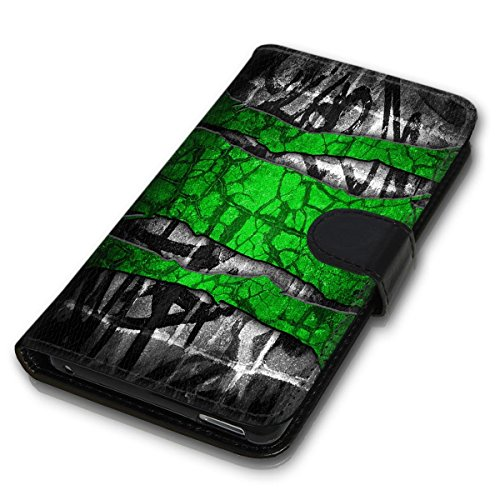 Wallet Book Style Flip Handy Tasche Case Schutz Hülle Schale Motiv Etui für Apple iPhone 6 / 6S - Design Flip MVD76