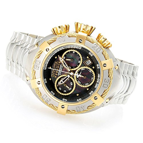 Invicta Men's 'Bolt' Quartz Gold and Stainless Steel Casual Watch, Color:Silver-Toned