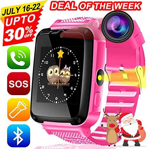Kids Phone Smart Watch [Free SIM Speedtalk ] 2 Way Call 3-15 Year Children Boys Girls Teen SOS Game Camera 1.54'' HD Touch Screen Bracelet Wrist Watches Bluetooth Travel Birthday Gift Back to School]()