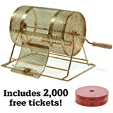 Small Brass Raffle Drum w/2,000 Free Tickets by Midway Monsters