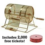 raffle wheel - Midway Monsters Small Brass Raffle Drum with 2000 Free Tickets