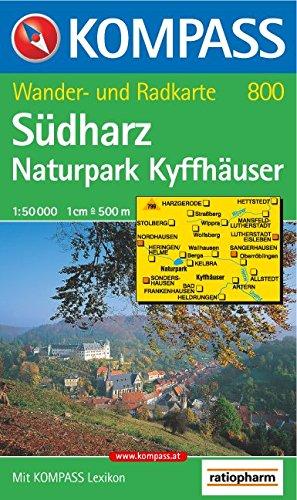 Südharz, Naturpark Kyffhäuser: Wander- und Radtourenkarte. 1:50.000