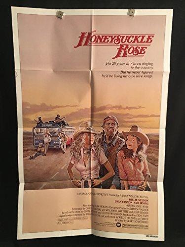 Honeysuckle Rose 1980 Original Vintage One Sheet Movie Poster, Willie Nelson, Country, Music, Western, Cowboy,