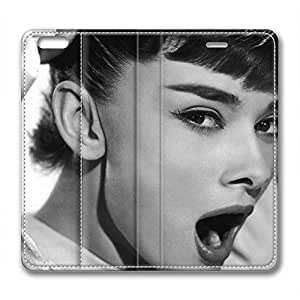 iPhone 6 Plus Soft High Quality PU Leather Case Easy To Clean Colored And Many Design Case Suit iPhone6 5.5 Inch Latest style Case Easy To Control Audrey Hepburn 238