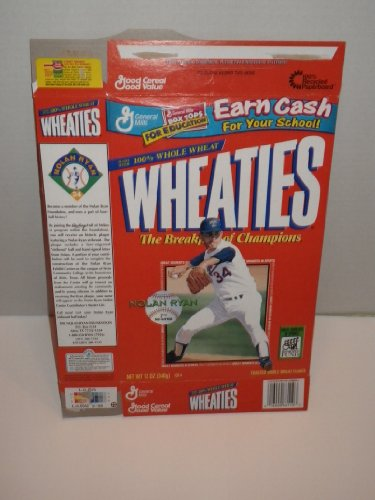 4 Flattened Wheaties Boxes - 2 Nolan Ryan, 1 Mark Mcgwire, and One Tiger (Tiger Woods Wheaties Box)