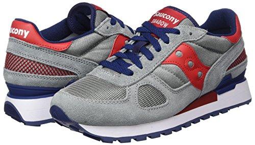 Bleu gris Original De Rouge Multicolore Hommes Shadow Chaussures Course Pour Saucony BZOv8