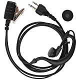 Tenq 2 pin G Shape Earpiece Headset for Midland Alan AVP-H3 GXT900 LXT80 LXT110 Two Way Radio 2pin