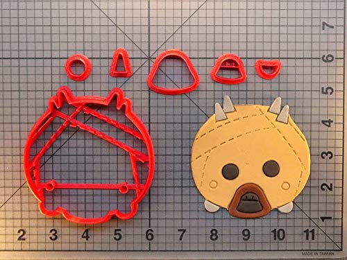 1 Set Movie Character Star Wars Cookie Cutter Custom Made 3D Printed Fondant Cupcake Top Cake Decorating Tools Kitchen Accessories (Cookies Custom Printed)