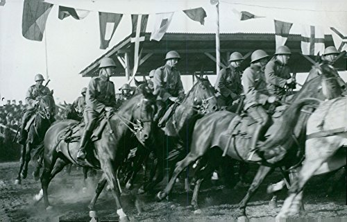 Vintage photo of The defense arm cavalry troops.