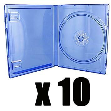 10 cajas para juego PS4 - azul transparente - compra por X 10: Amazon.es: Oficina y papelería
