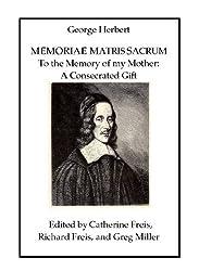 Memoriae Matris Sacrum: To the Memory of My Mother