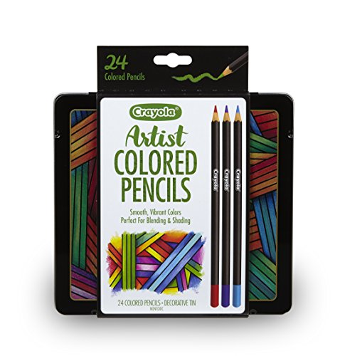 Crayola Artist Gel Colored Pencils Set, Professional Coloring Kit, Adult Coloring, 24 Count, Stocking Stuffer, Gift, Assorted