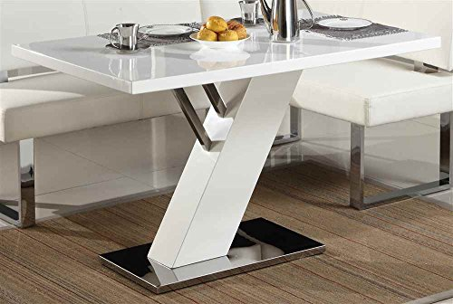 Chintaly 51.8 in. Modern Dining Table in White