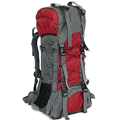 Xuanytp plein air 50L Capacité Haute Qualité Nylon Résistant À L'eau Sac À Dos Alpinisme Camping Sac 3 Couleurs
