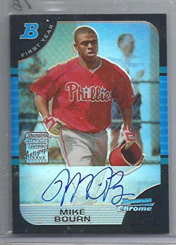 2005 Bowman Chrome Baseball Michael Bourn Auto Rookie Refractor Card # 271/500 (CSC)