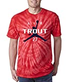 """Silo Shirts TIE DIE Red Los Angeles Trout """"Air"""" T-Shirt"""