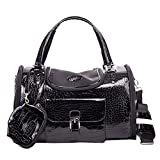 Tricandide Pet Carrier Airline Approved Small Dogs and Cats Luxry Handbag Dog Purse Black M