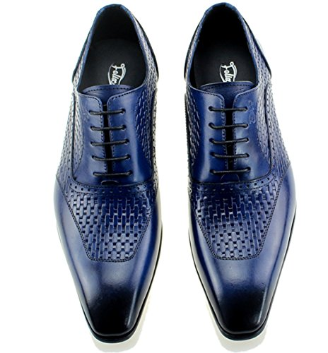 latest collections cheap online Felix Chu Men's Luxury Italian Genuine Cow Leather Men Blue Wedding Oxford Shoes Lace-up Office Suit Men's Dress Shoe Blue 2015 new cheap online free shipping high quality prices sale online hmdyg