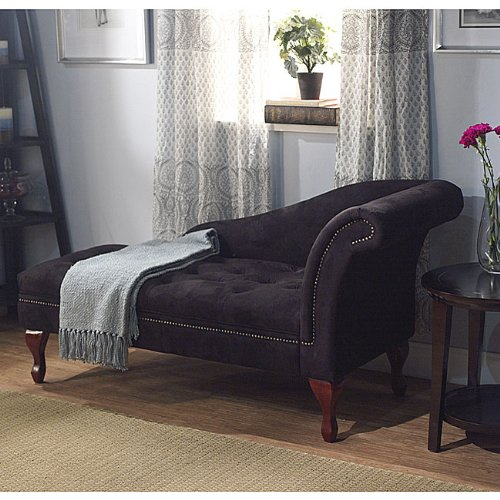 Oversize Lounge Chair, Fold Open Lid for Storage on This Chaise Lounger - Oversized Sleeper Chair