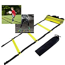 Agility Ladder, egymcom 12 rung Speed Training ladder for Soccer, Speed, Football Fitness Feet Training with Carry Bag