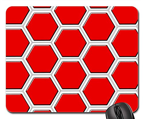 Mouse Pads - Combs Hexagons Hexagon Diamond Pattern ()