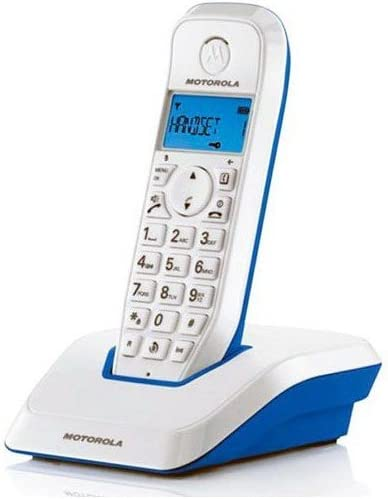 Motorola DECT Serie S12 Single - Teléfono inalámbrico digital, color cian