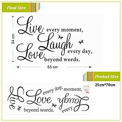 Live Laugh Love Quotes Tatuajes De Pared Decoraciones Para El ...