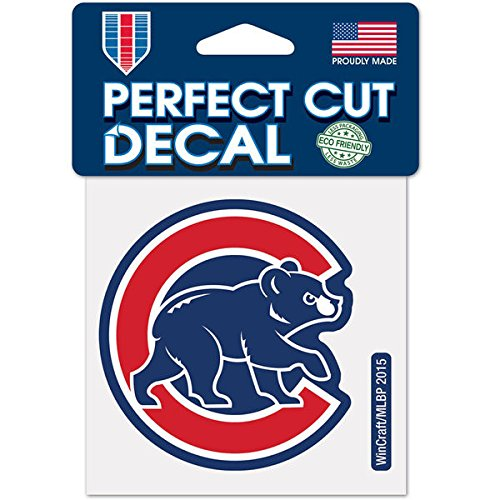 Chicago Cubs 4 x 4 Car Decal