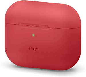 elago Original Case Designed for Apple AirPods Pro Case for AirPod Pro - Protective Silicone Cover (Red)