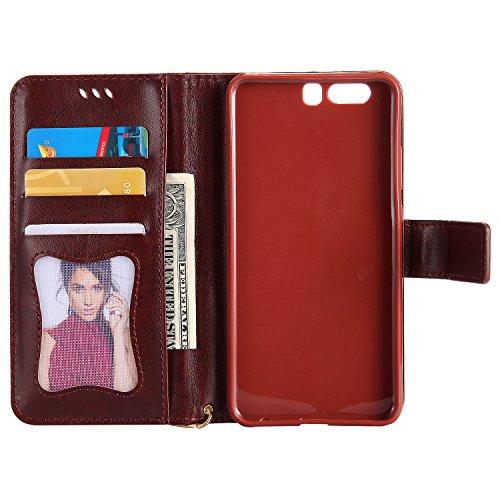für Huawei P10 Plus Hülle Flip-Case Premium Kunstleder Tasche im Bookstyle Klapphülle mit Weiche Silikon Handyhalter Lederhülle für Huawei P10 Plus (5.5 Zoll) Luminous Mädchen Katze case Hülle +Stöpse 7