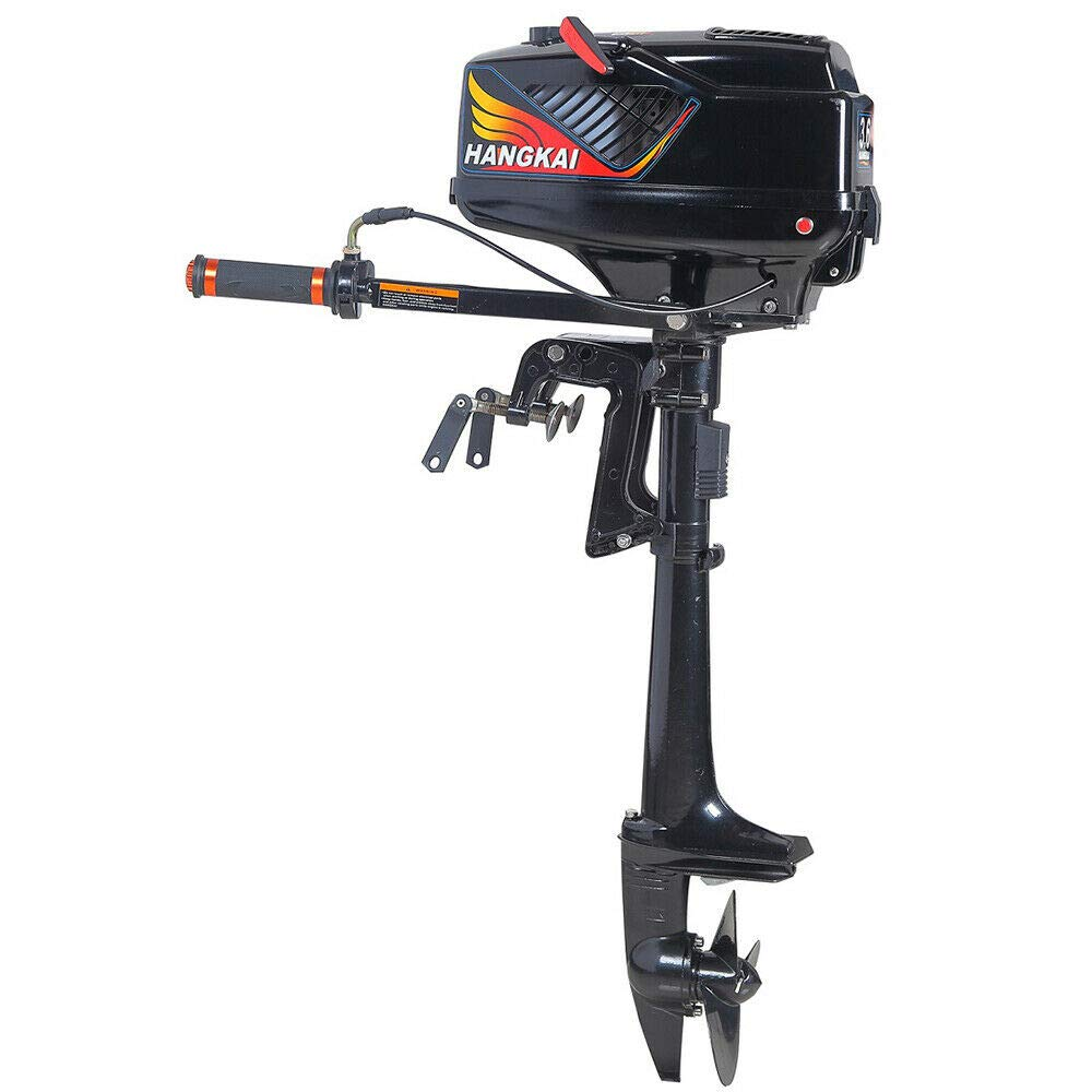 LOYALHEARTDY19 3.6 Hp Petrol Outboard Motor,2 Stroke Outboard Motor 3.6Hp Inflatable Fishing Boat Engine Water Cooling Cdi Cooled Drive 2Stroke System