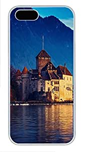 iPhone 5 5S Case Landscapes Lake Geneva PC Custom iPhone 5 5S Case Cover White