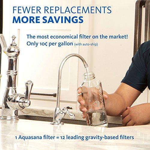 Aquasana AQ-5200.55 2-Stage Under Counter Water Filter System with Brushed Nickel Faucet by Aquasana: Amazon.es: Bricolaje y herramientas