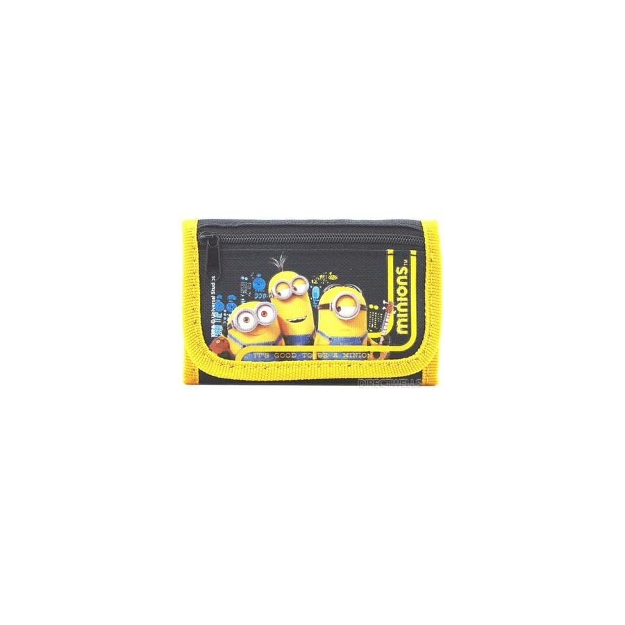 Despicable Me Minions Good Quality Children Trifold Wallet (Black)
