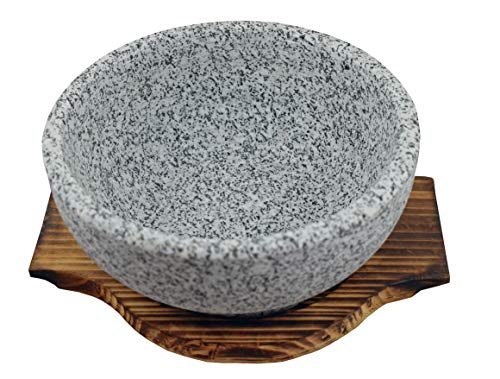 (Natural Stone Bowl For Bibimbap and Soup (36 OZ))