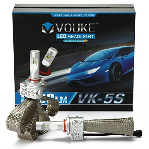 VK-5S 9005 H10 9145 8000LM LED Headlight Conversion Kit, High beam headlamp, Halogen Head light Replacement, 6500K Xenon White, 1 Pair