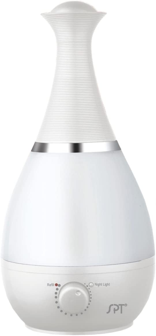 SPT Ultrasonic Humidifier with Fragrance Diffuser, White