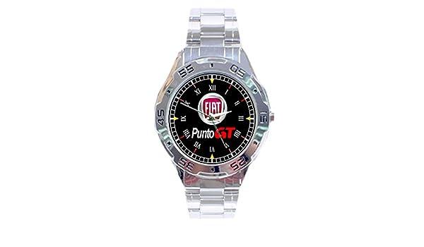 Amazon.com: MRZK151 NEW RARE Fiat Punto GT Turbo CUSTOM CASUAL CHROME MENS WATCH WRISTWATCHES: Watches