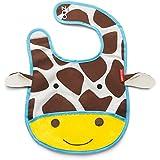 Skip Hop Zoo Little Kid and Toddler Tuck-Away Water Resistant Baby Bib, Giraffe