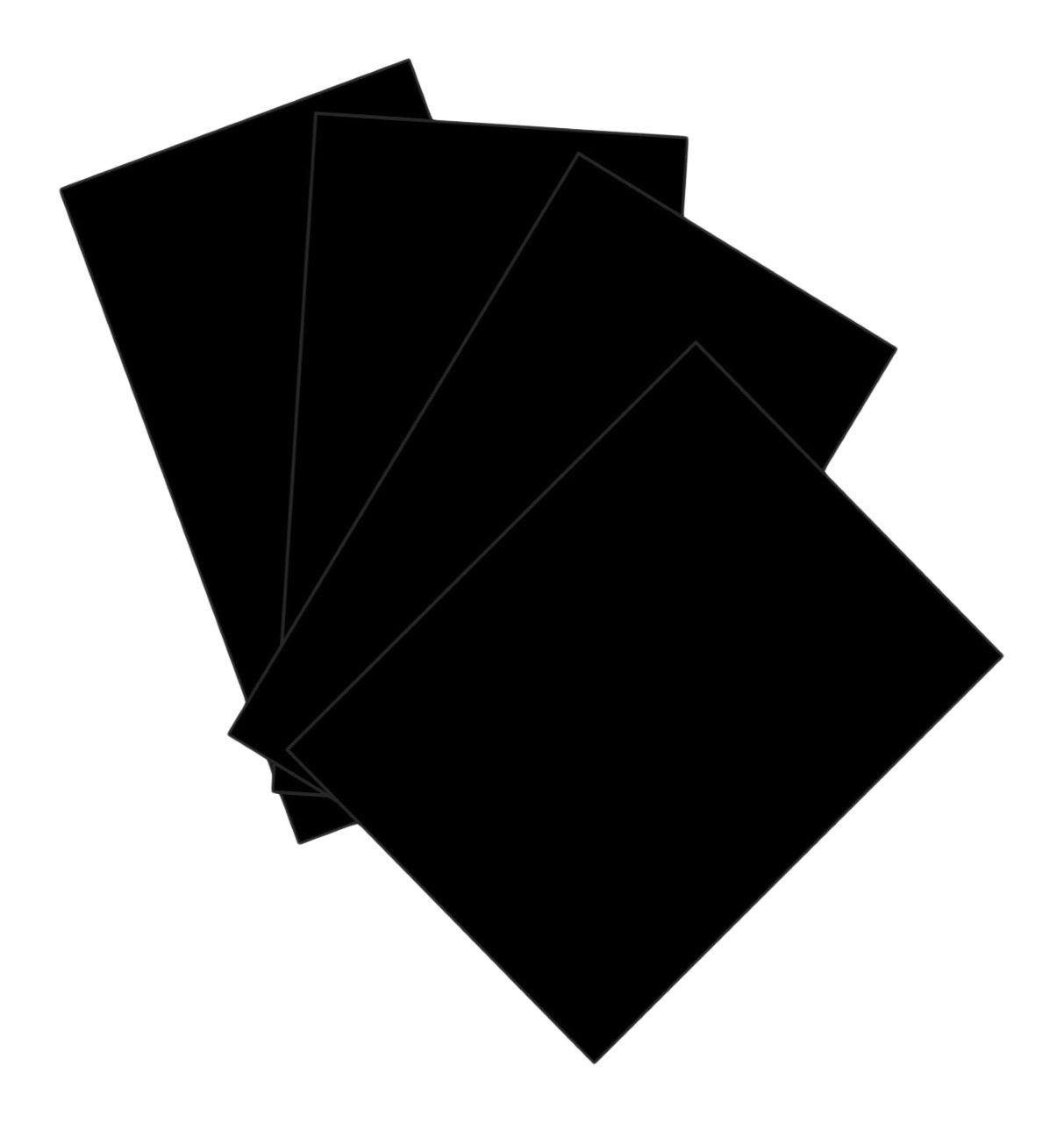House of & Papier 220gsm A2KARTE–Schwarz (50Stück Blatt) House of Card & Paper HCP170
