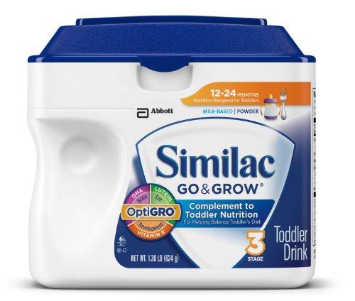 Similac Перейти & Grow Этап 3, на основе молока малышей Пейте с железом, порошок, 22 унции (Pack 6) (комплектация может отличаться)
