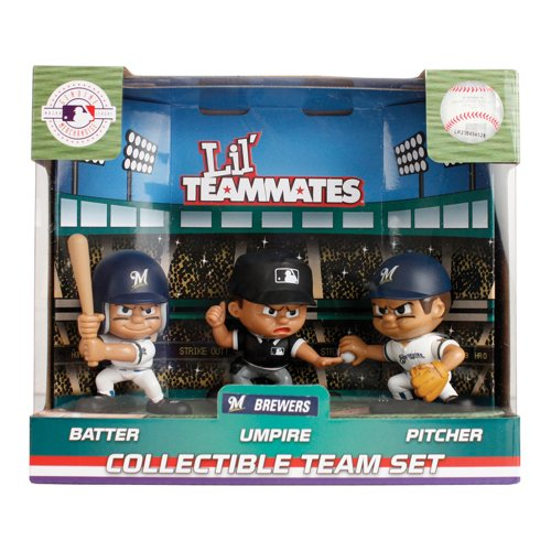 Milwaukee Brewers Pitcher - MLB Milwaukee Brewers Lil' Teammates (Pack of 3)