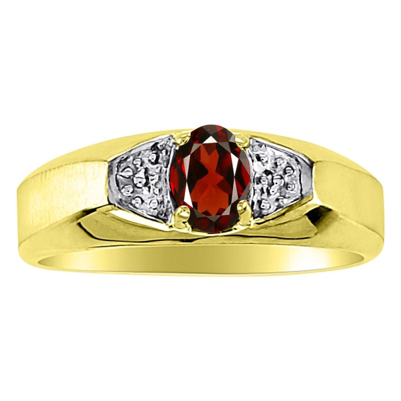 Birthstone Ring 14K Yellow or 14K White Gold Garnet Ring
