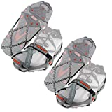 Yaktrax Run Traction Cleats for Running on Snow and Ice, Medium (2 Pack)